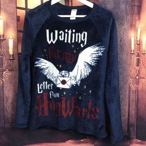 Hogwarts Letter Sleep Shirt Minky Sweater M (8-10)